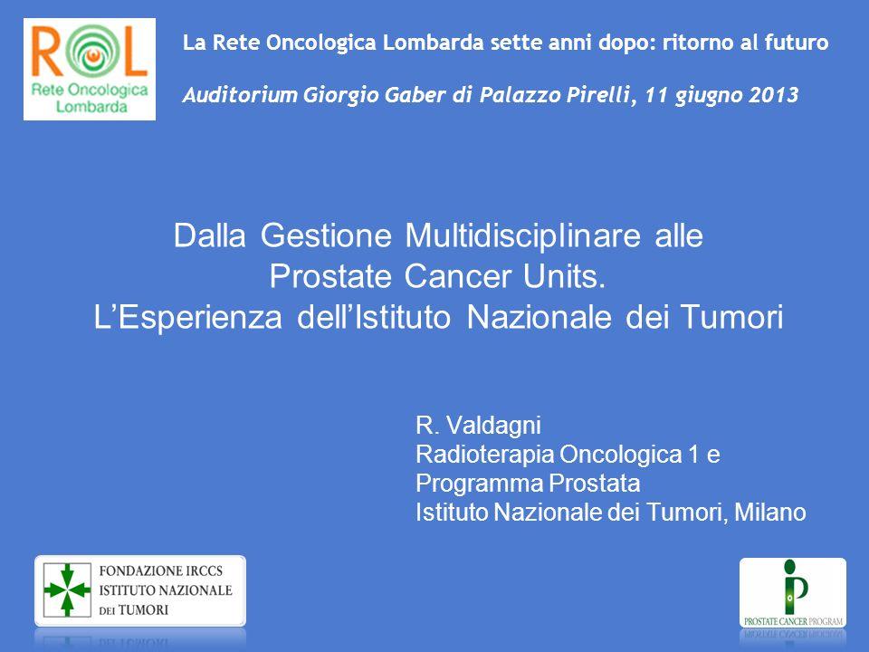 La Rete Oncologica Lombarda sette anni dopo: ritorno al futuro