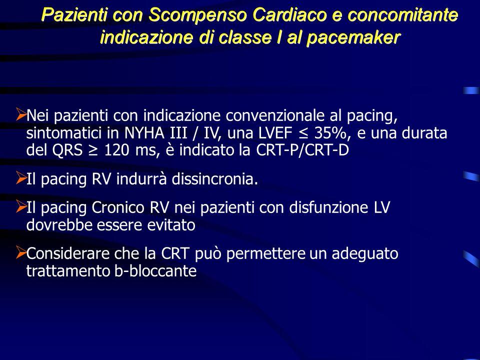 Pazienti con Scompenso Cardiaco e concomitante indicazione di classe I al pacemaker