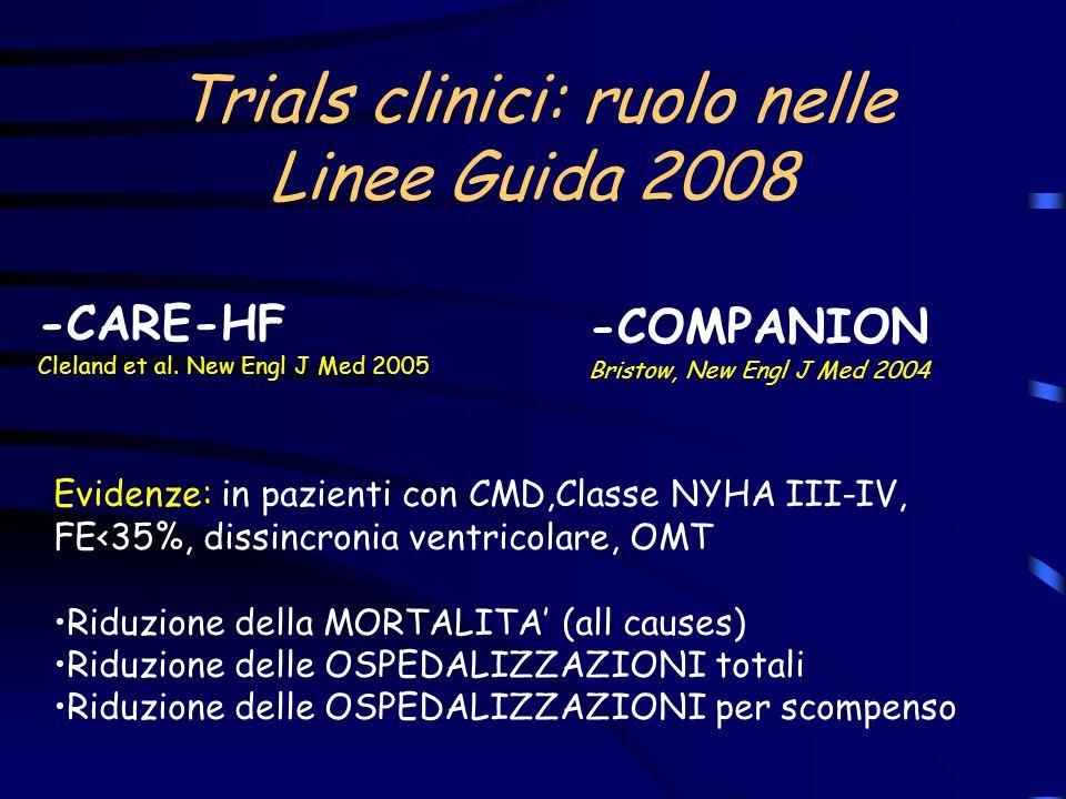 Trials clinici: ruolo nelle Linee Guida 2008