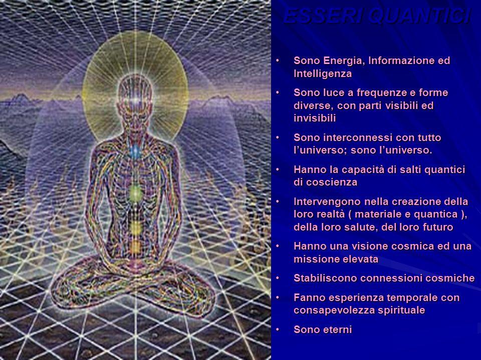 ESSERI QUANTICI Sono Energia, Informazione ed Intelligenza