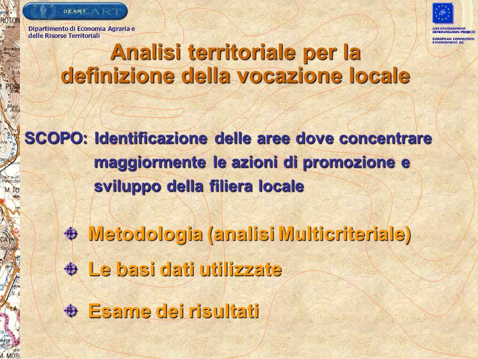 Analisi territoriale per la definizione della vocazione locale