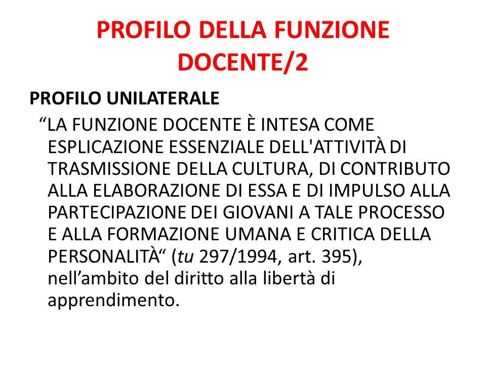 PROFILO DELLA FUNZIONE DOCENTE/2