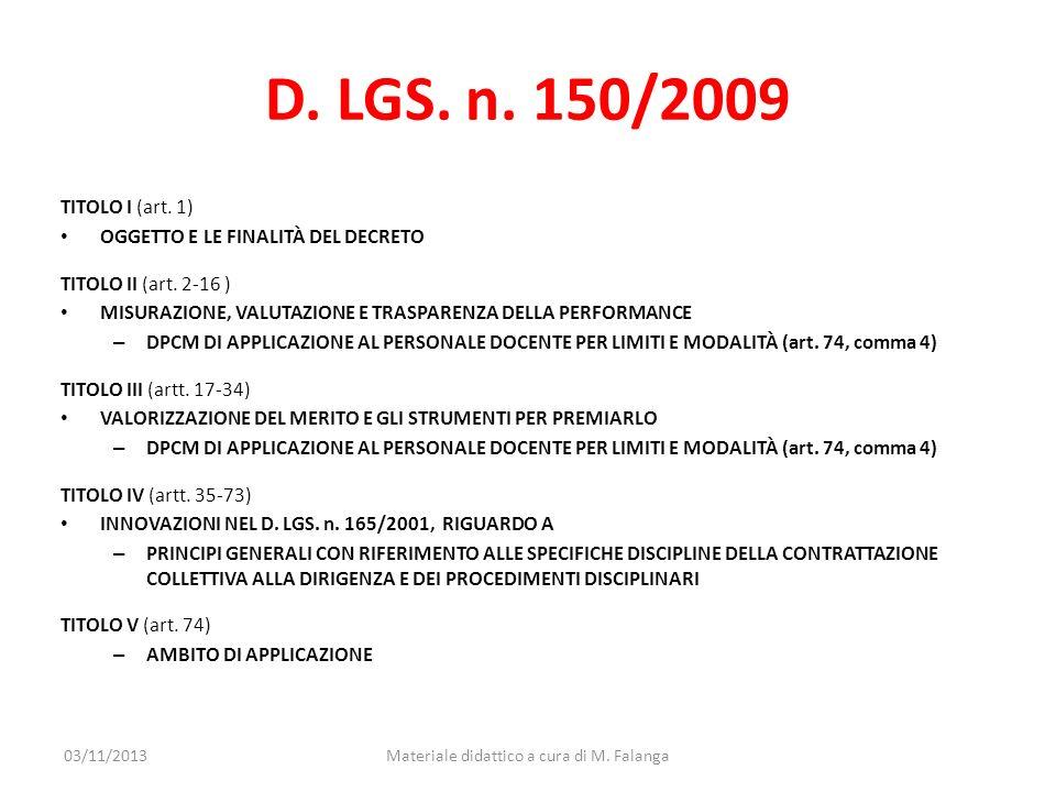 Materiale didattico a cura di M. Falanga