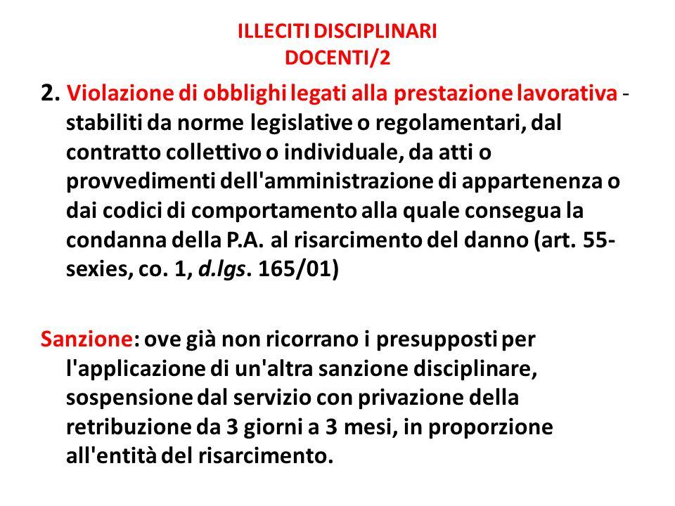 ILLECITI DISCIPLINARI DOCENTI/2