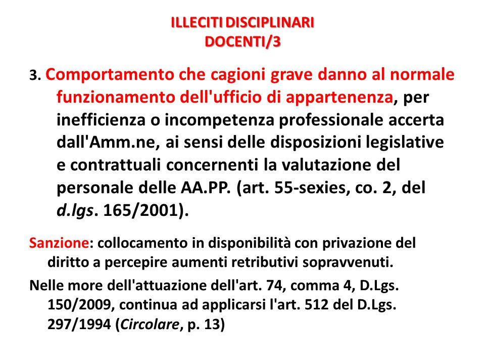 ILLECITI DISCIPLINARI DOCENTI/3