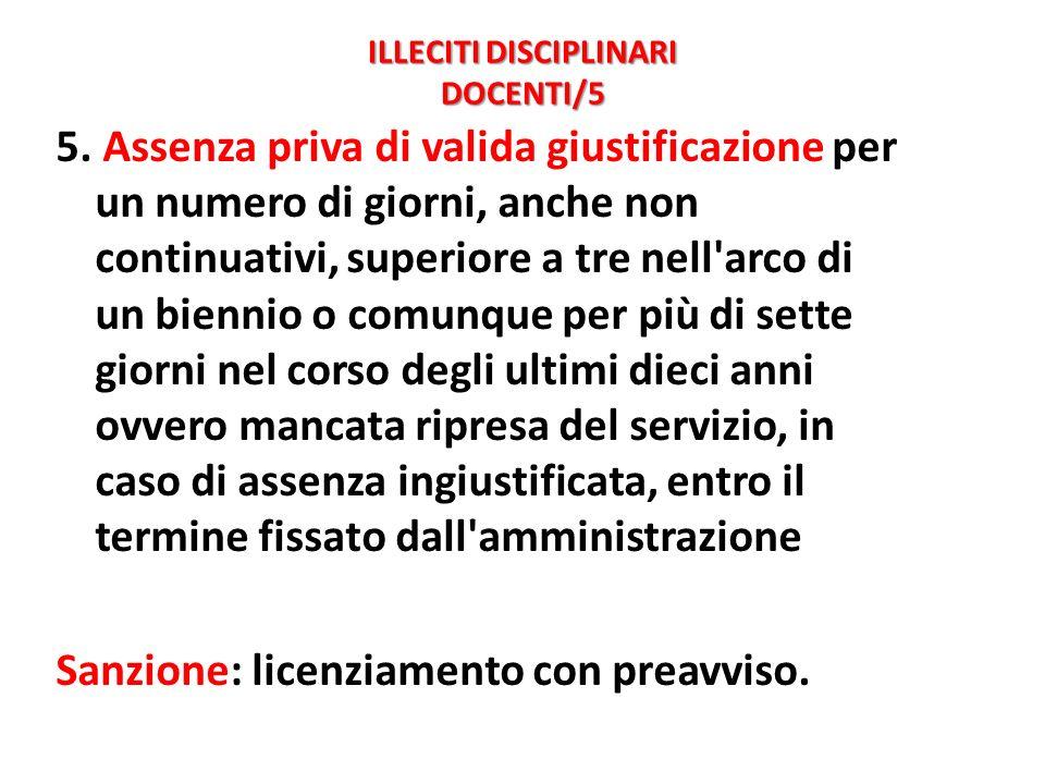 ILLECITI DISCIPLINARI DOCENTI/5