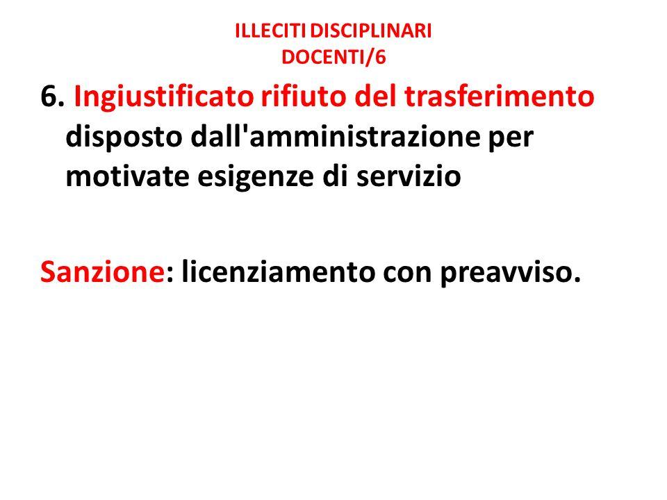 ILLECITI DISCIPLINARI DOCENTI/6
