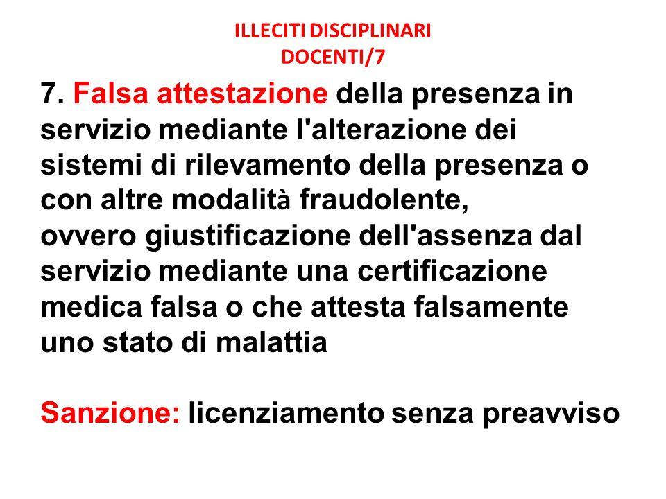 ILLECITI DISCIPLINARI DOCENTI/7