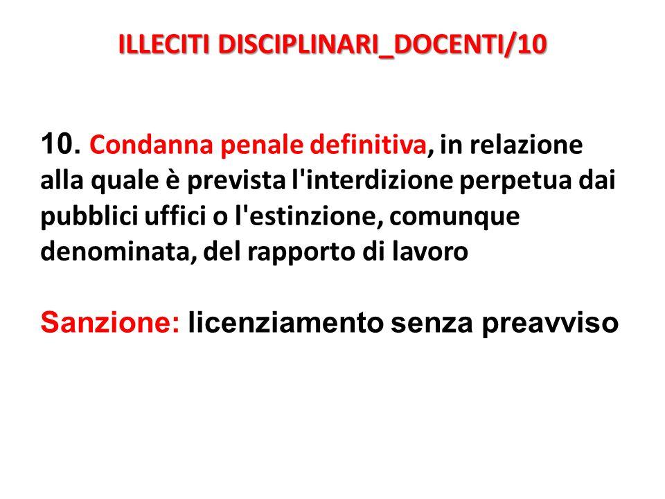 ILLECITI DISCIPLINARI_DOCENTI/10