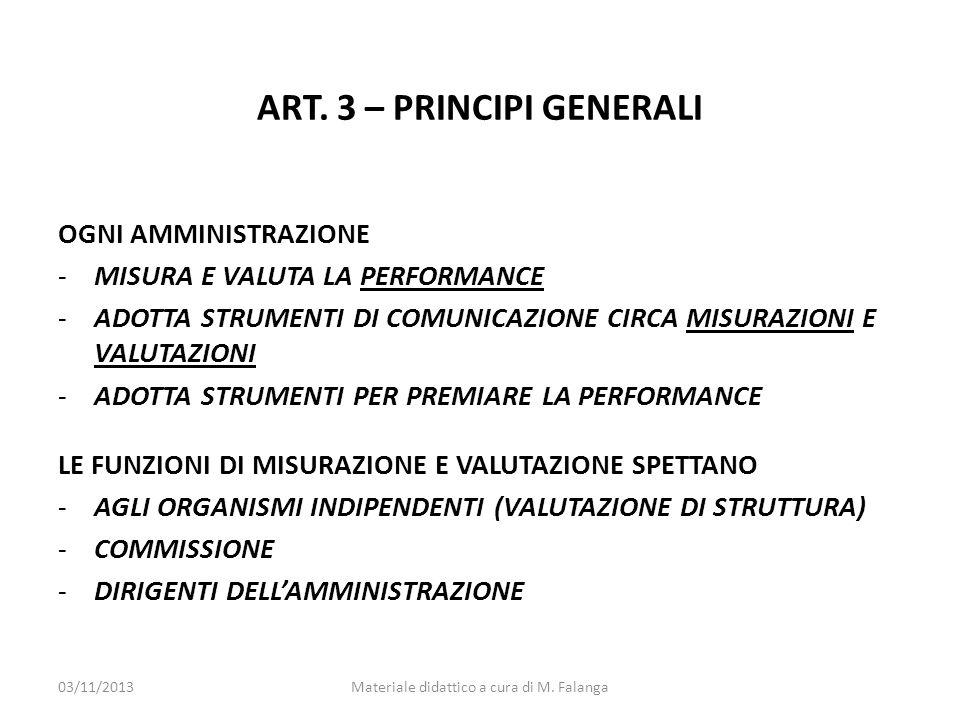 ART. 3 – PRINCIPI GENERALI