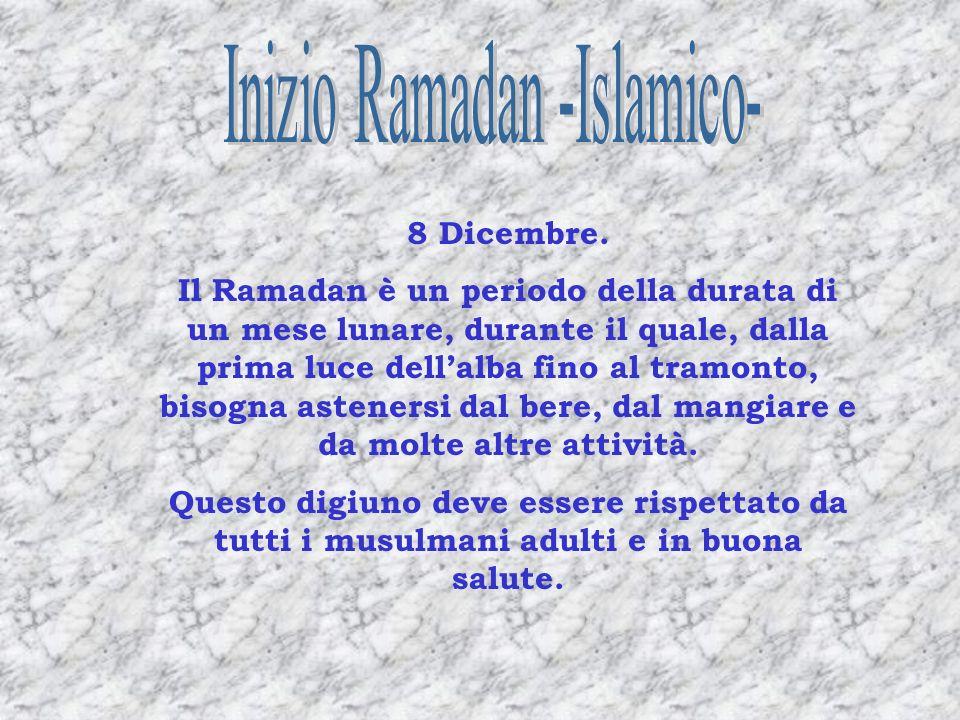 Inizio Ramadan -Islamico-