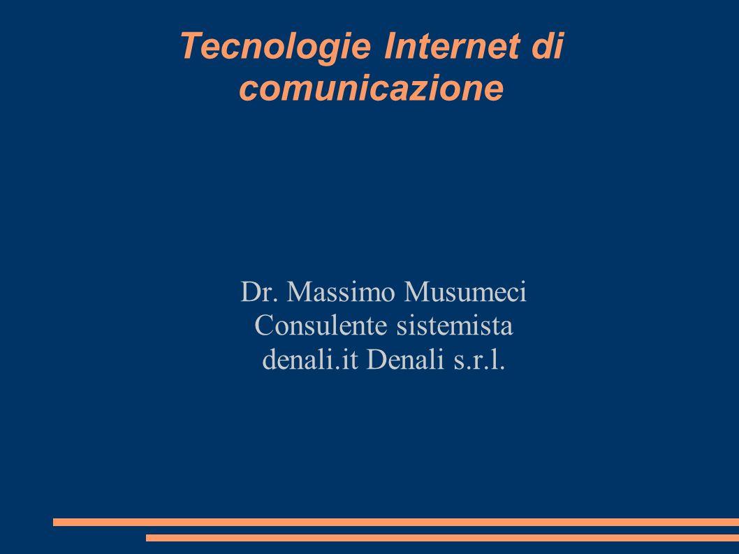 Tecnologie Internet di comunicazione