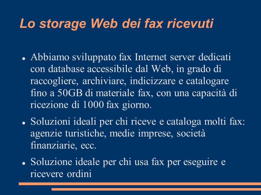Lo storage Web dei fax ricevuti