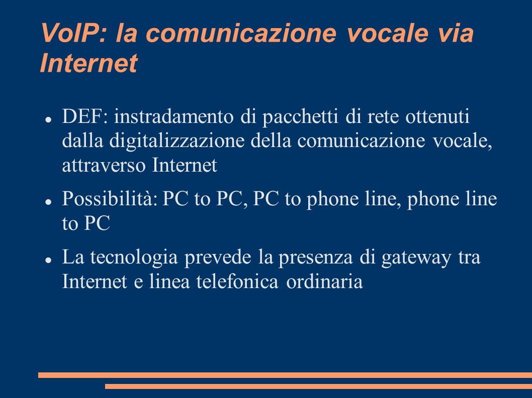 VoIP: la comunicazione vocale via Internet