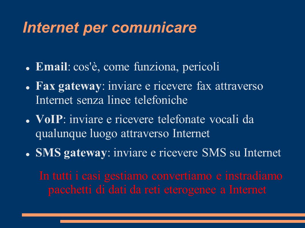 Internet per comunicare