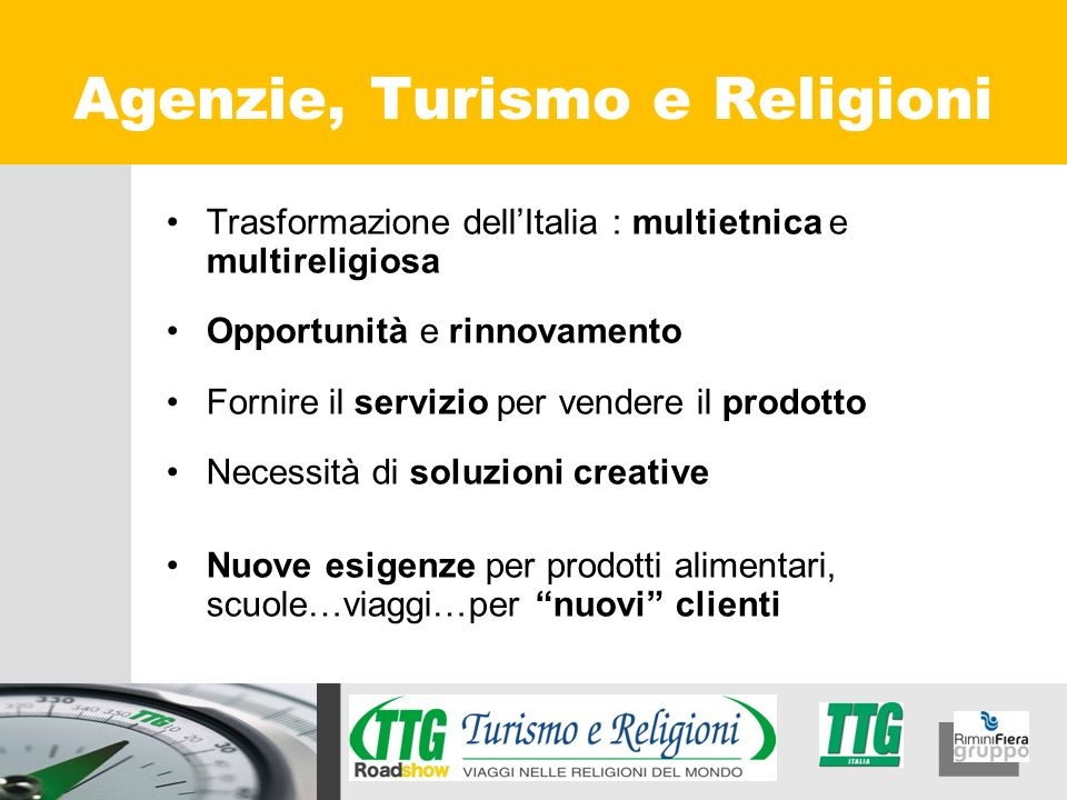 Agenzie, Turismo e Religioni