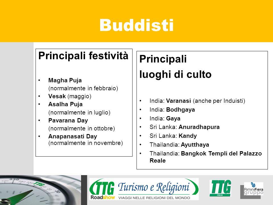 Buddisti Principali festività Principali luoghi di culto Magha Puja