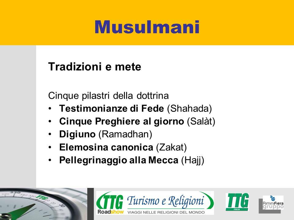 Musulmani Tradizioni e mete Cinque pilastri della dottrina