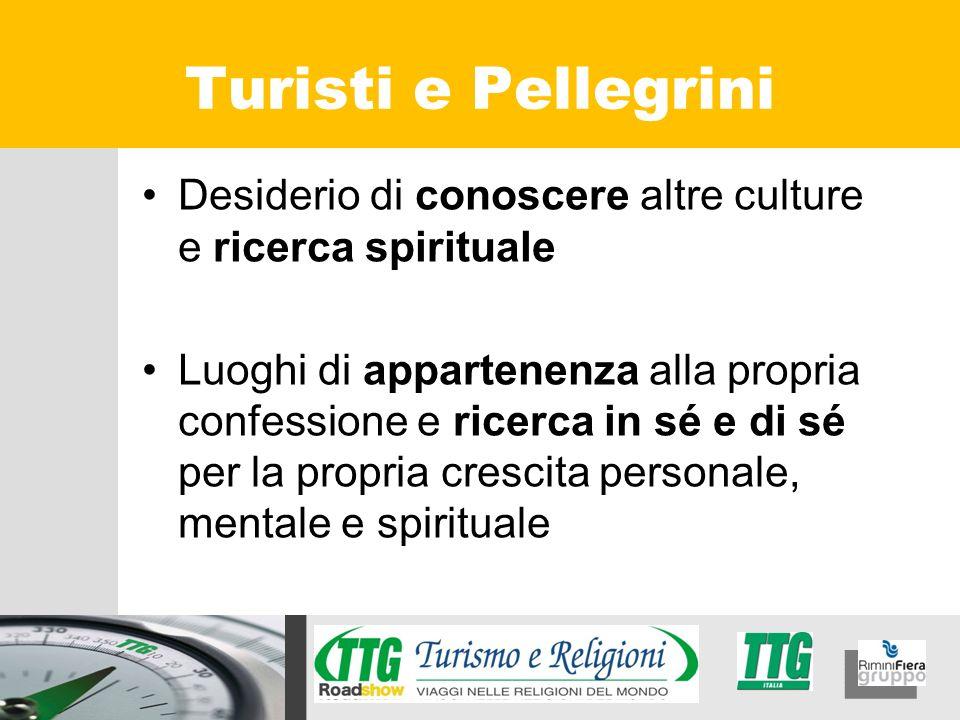 Turisti e Pellegrini Desiderio di conoscere altre culture e ricerca spirituale.