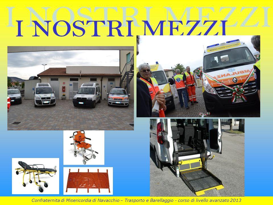 I NOSTRI MEZZI Confraternita di Misericordia di Navacchio – Trasporto e Barellaggio - corso di livello avanzato 2013.