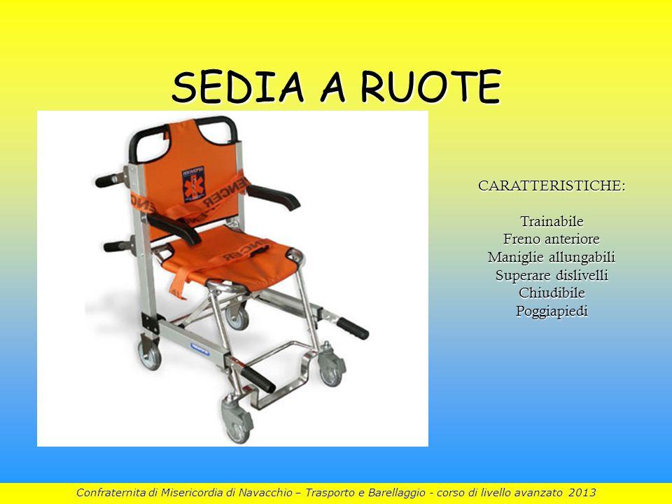 SEDIA A RUOTE CARATTERISTICHE: Trainabile Freno anteriore