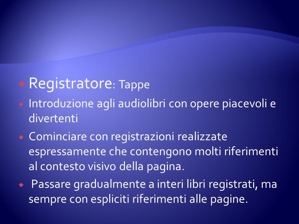 Registratore: Tappe Introduzione agli audiolibri con opere piacevoli e divertenti.