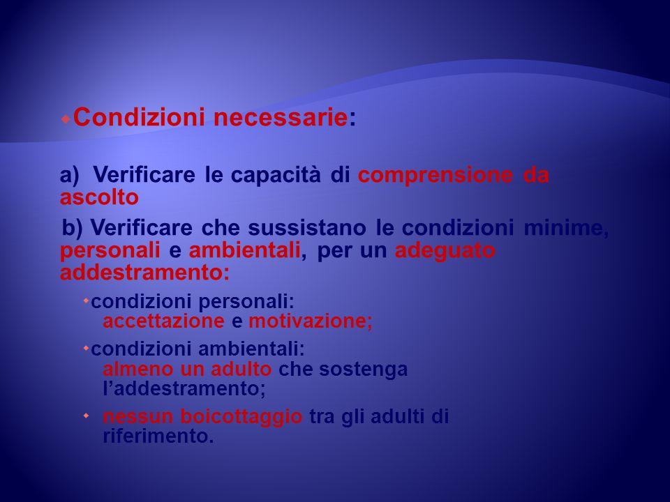 Condizioni necessarie: