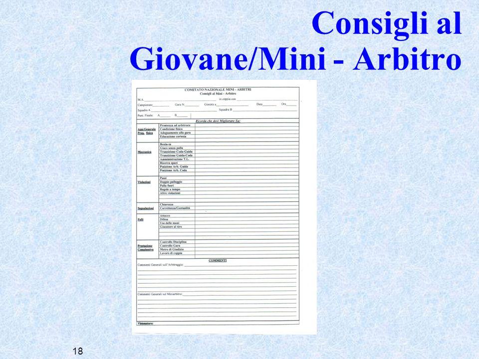 Consigli al Giovane/Mini - Arbitro