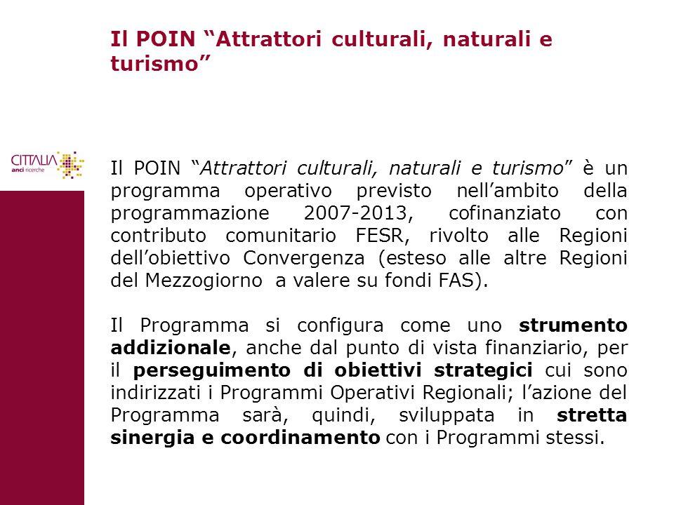 Il POIN Attrattori culturali, naturali e turismo