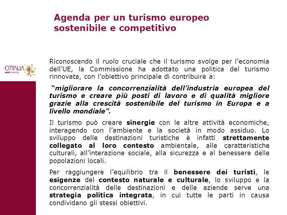 Agenda per un turismo europeo sostenibile e competitivo