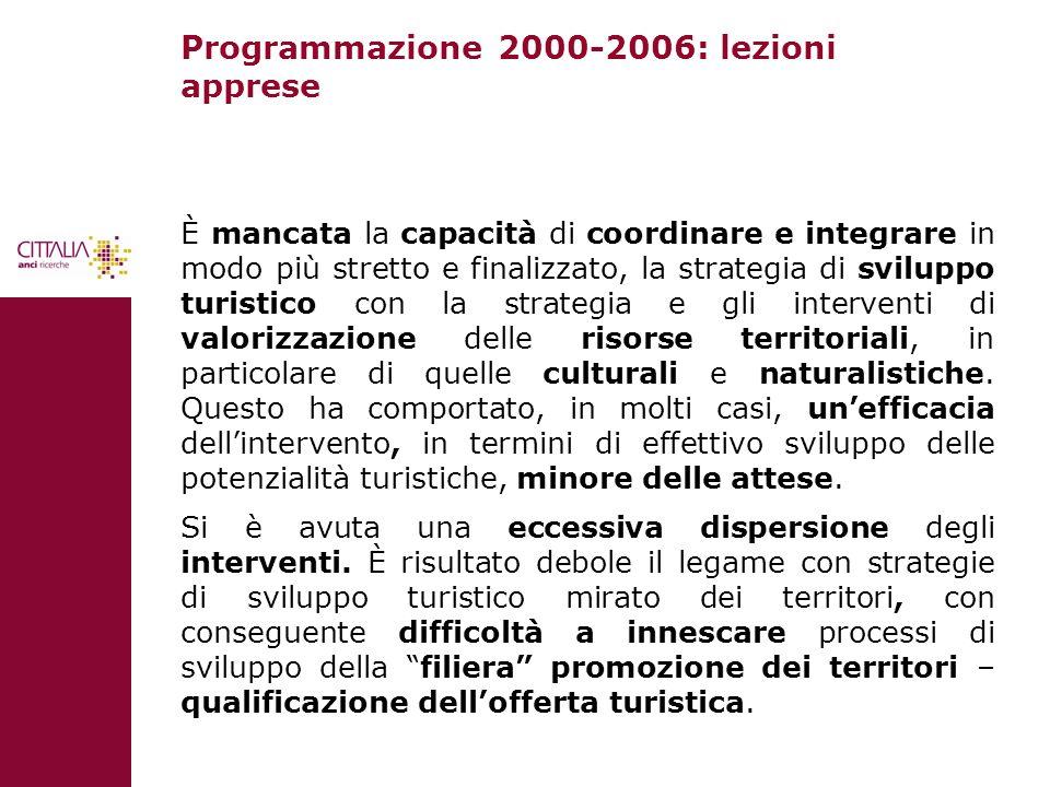 Programmazione 2000-2006: lezioni apprese