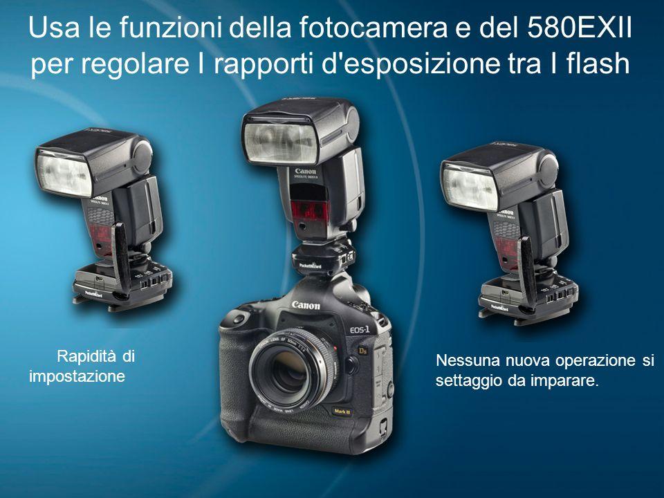 09/04/09 Usa le funzioni della fotocamera e del 580EXII per regolare I rapporti d esposizione tra I flash.