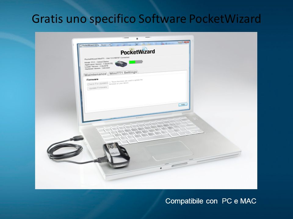 Gratis uno specifico Software PocketWizard