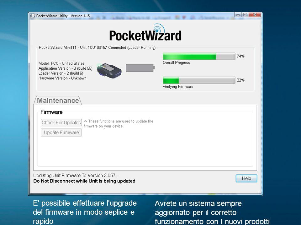 09/04/09E possibile effettuare l upgrade del firmware in modo seplice e rapido.