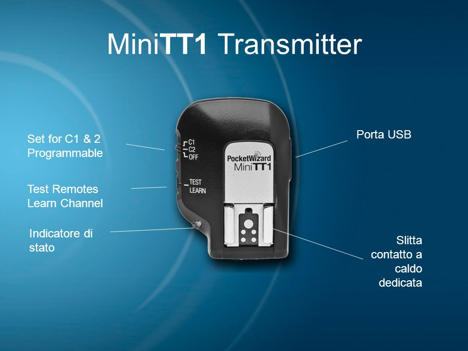 MiniTT1 Transmitter Porta USB Set for C1 & 2 Programmable Test Remotes