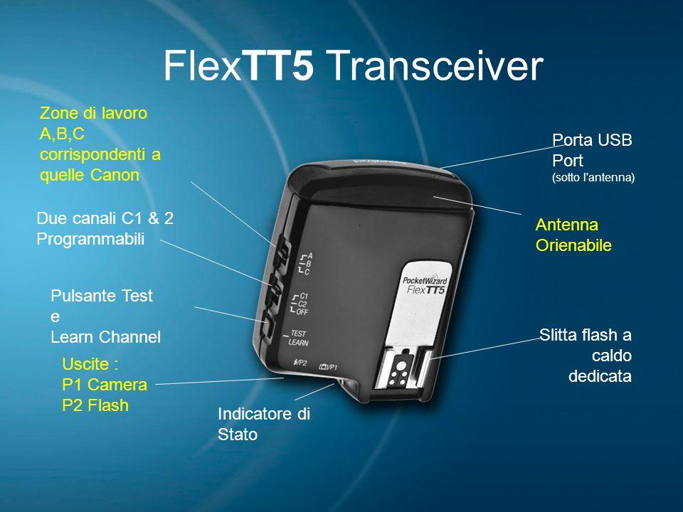 FlexTT5 Transceiver Zone di lavoro A,B,C corrispondenti a quelle Canon