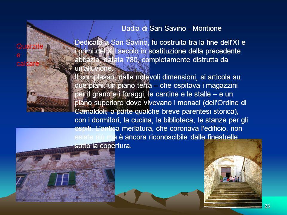 Badia di San Savino - Montione