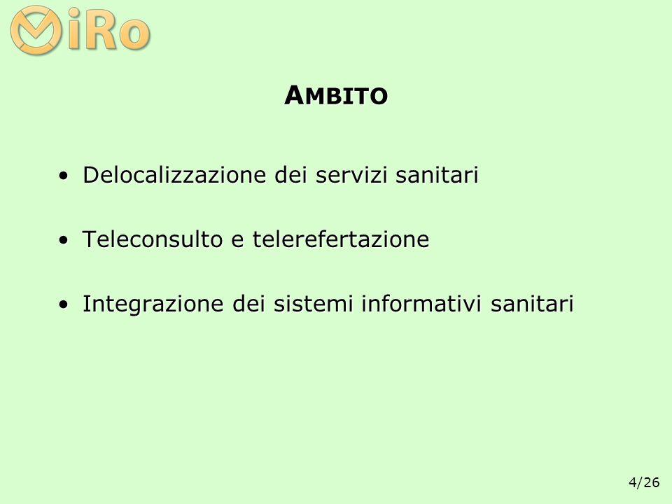AMBITO Delocalizzazione dei servizi sanitari
