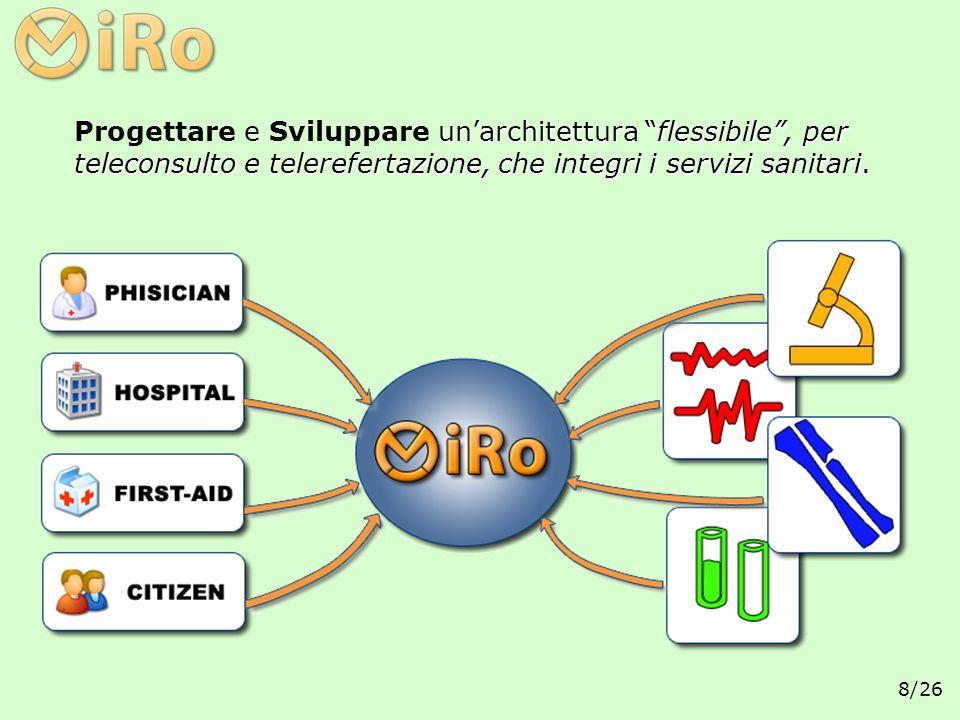 Progettare e Sviluppare un'architettura flessibile , per teleconsulto e telerefertazione, che integri i servizi sanitari.