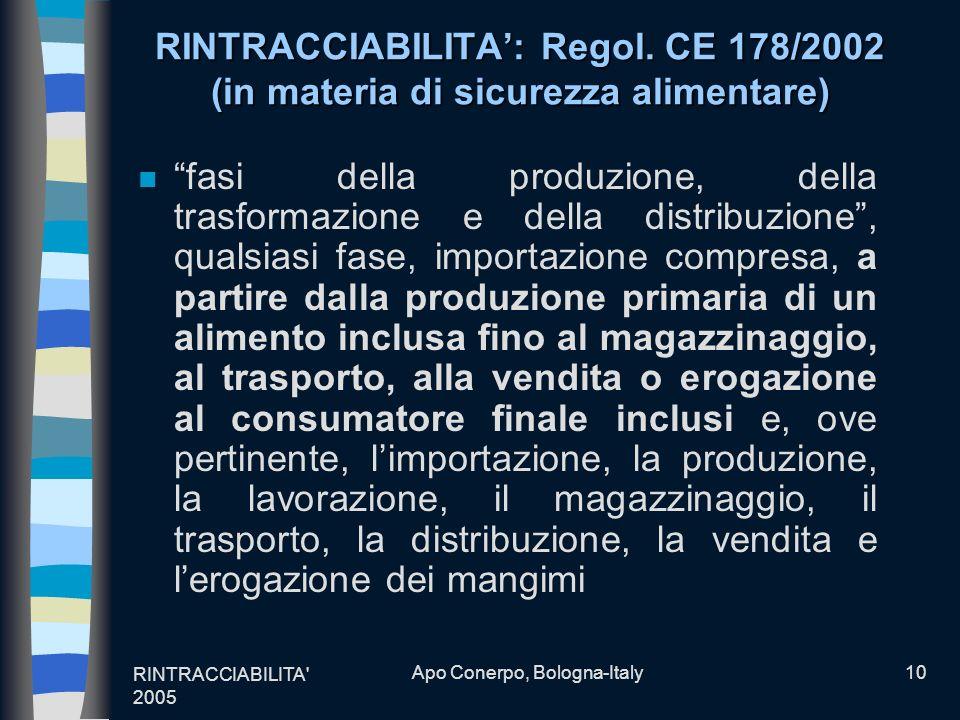 Apo Conerpo, Bologna-Italy
