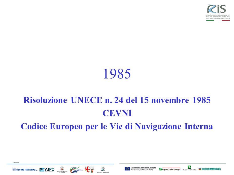 1985 Risoluzione UNECE n. 24 del 15 novembre 1985 CEVNI