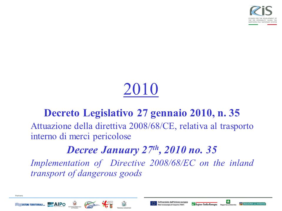 Decreto Legislativo 27 gennaio 2010, n. 35