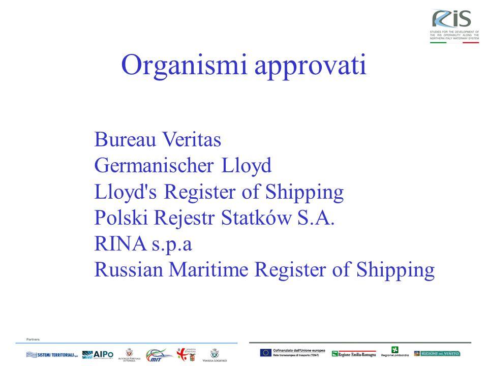 Organismi approvati Bureau Veritas Germanischer Lloyd