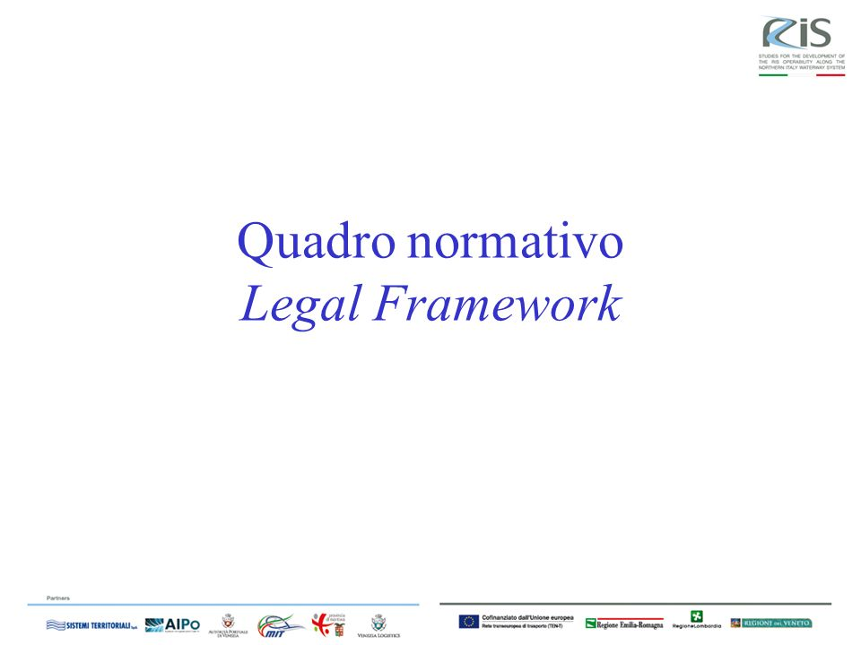 Quadro normativo Legal Framework