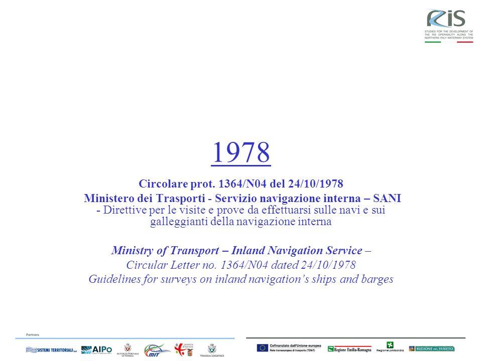 Circolare prot. 1364/N04 del 24/10/1978