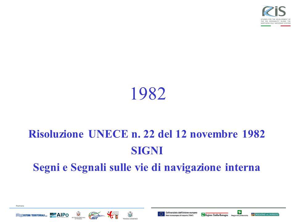 1982 Risoluzione UNECE n. 22 del 12 novembre 1982 SIGNI