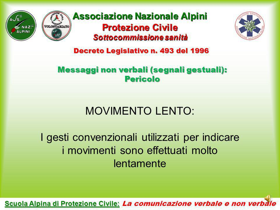 Associazione Nazionale Alpini Protezione Civile Sottocommissione sanità