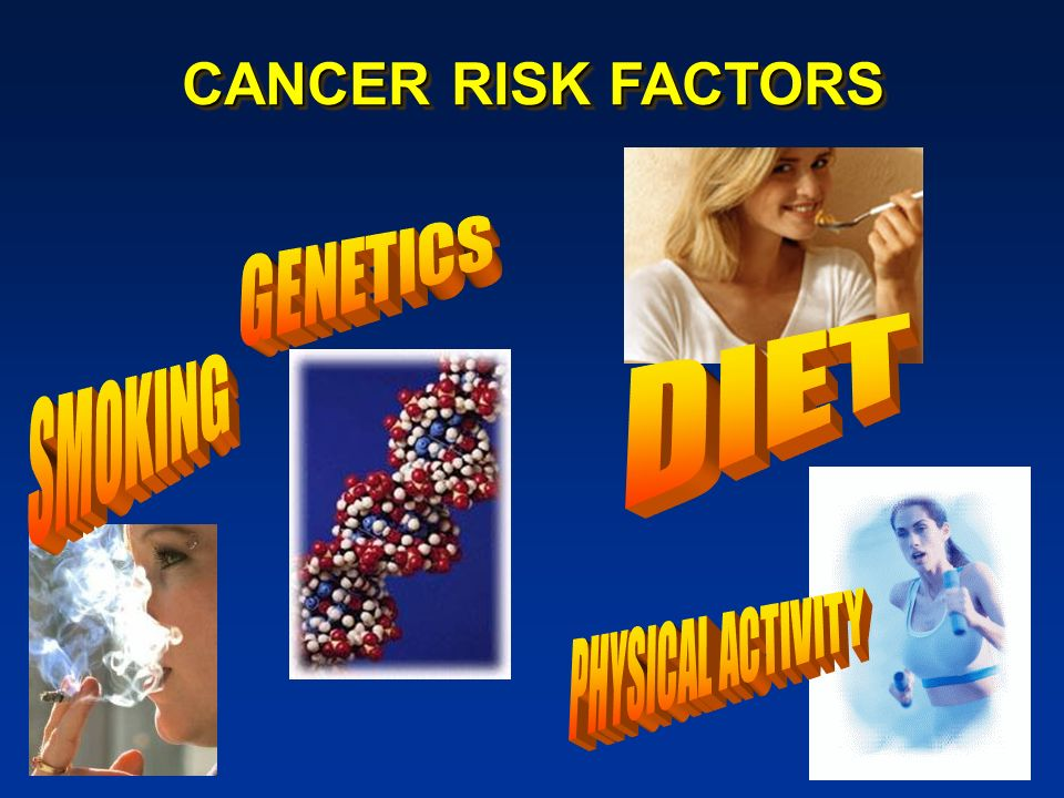 CANCER RISK FACTORS GENETICS DIET SMOKING PHYSICAL ACTIVITY