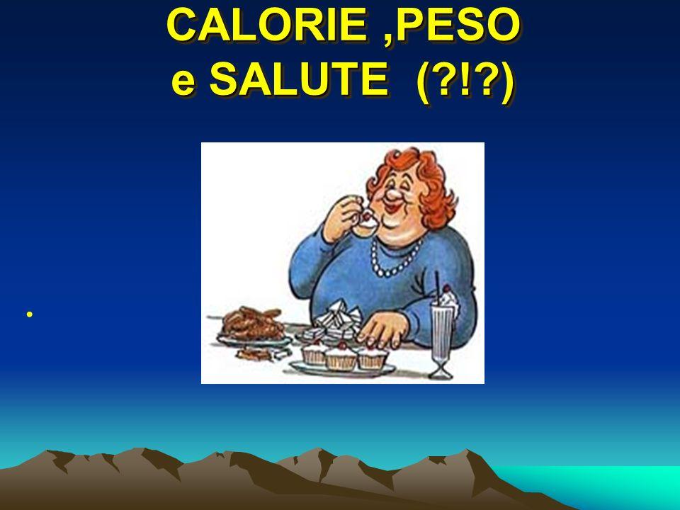 CALORIE ,PESO e SALUTE ( ! )