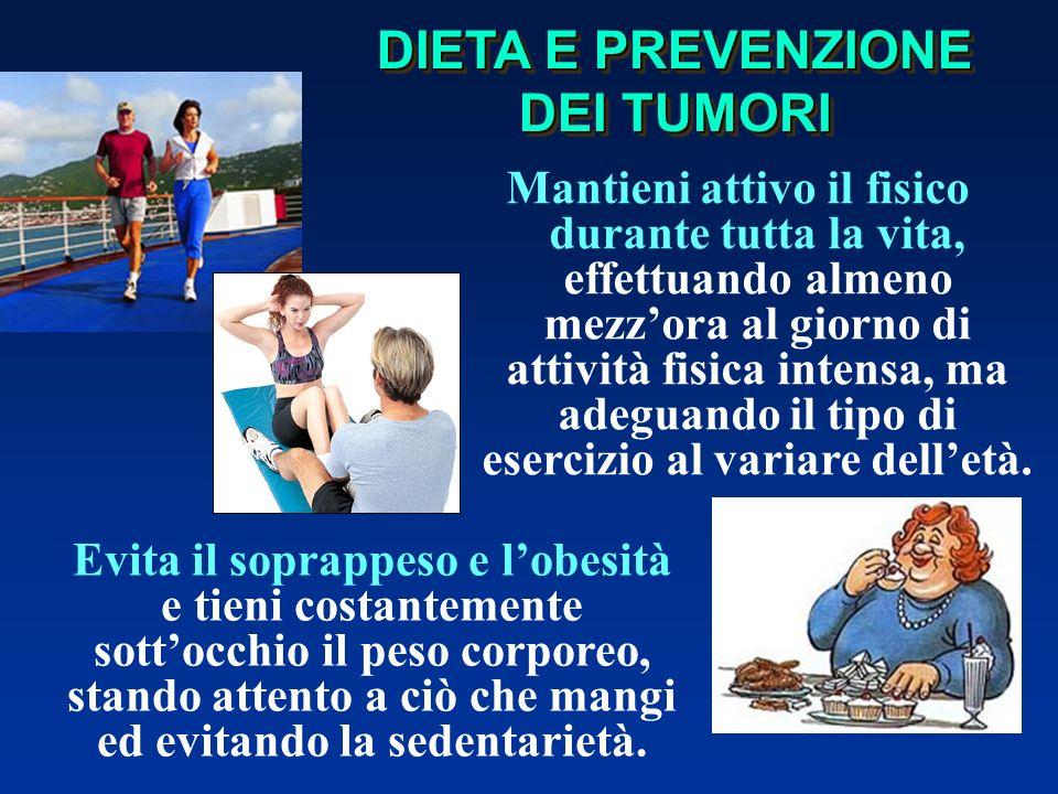 DIETA E PREVENZIONE DEI TUMORI